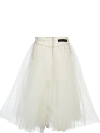 Ben Taverniti Unravel Project Unravel Tulle Layered Denim Skirt