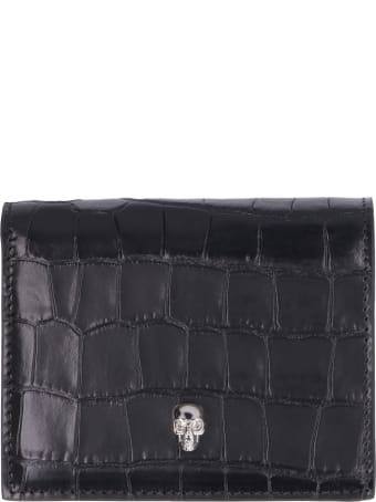 Alexander McQueen Skull Small Leather Wallet
