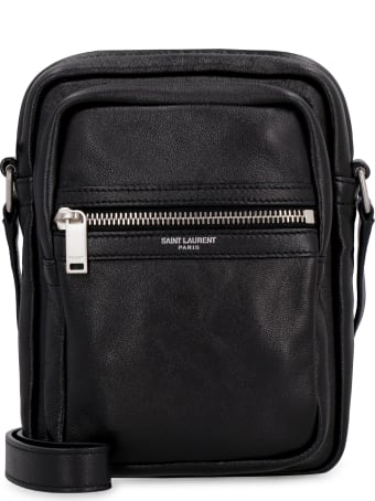 Saint Laurent Sid Leather Messenger Bag