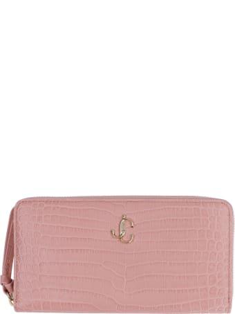 Jimmy Choo Pippa Leather Zip Around Wallet