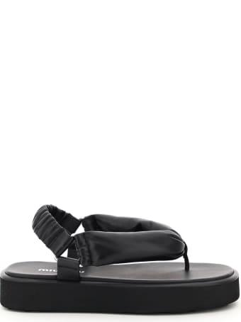 Miu Miu Padded Nappa Thong Sandals