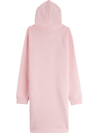 Lanvin Hooded Dress With Logo Patch