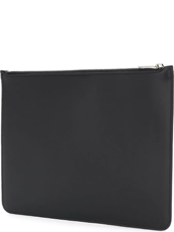 Neil Barrett Black Leather Clutch