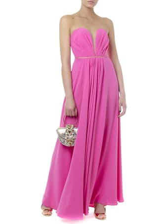 Rhea Costa Long Stretchy Fuxia Heart Shape Dress