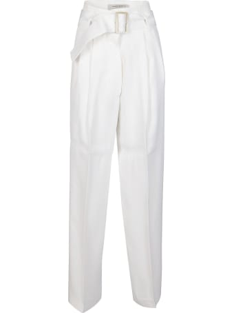 Golden Goose White Viscose Trousers