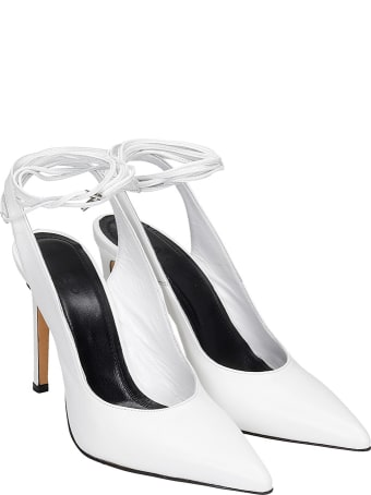 IRO Rech Pumps In White Leather