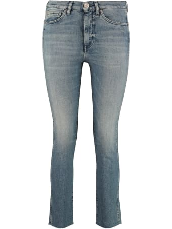 3x1 High-rise Straight Ankle Jeans