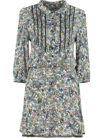 Zadig & Voltaire Raspail Gathered Printed Dress