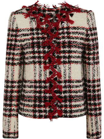 Tory Burch Embroidered Tweed Jacket