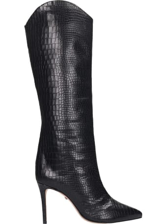 Schutz Maryana Boots In Black Leather