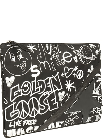 Golden Goose Journey Pouch Large Printed Journey Nylon Body