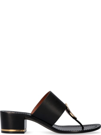 Tory Burch Patos Disk Leather Mules