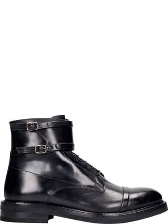 Malone Souliers George Ankle Boots In Black Leather