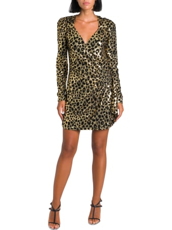 In The Mood For Love Sequined Leopard Wrap-dress
