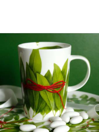 Taitù Set of 2 Mugs - Fil Rouge Foglie Collection