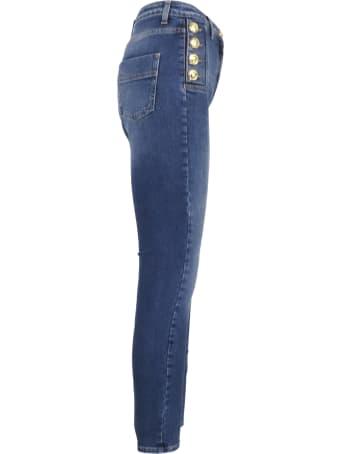 Elisabetta Franchi Gold Bottom Jeans