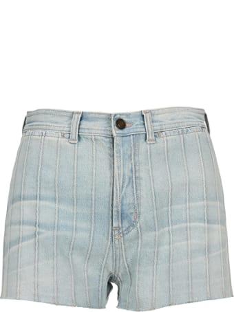 Saint Laurent High Waist Denim Shorts