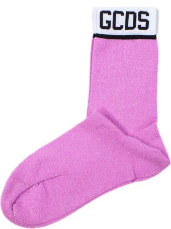 GCDS Pink Glitter Socks