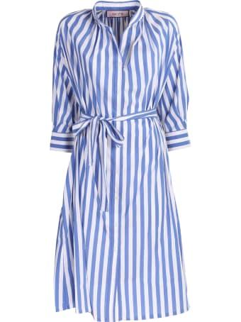 Bagutta striped cotton dress