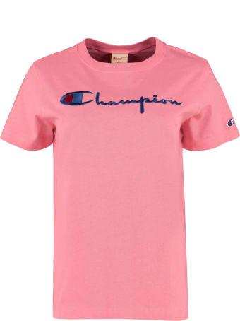 Champion Logo Detail Cotton T-shirt