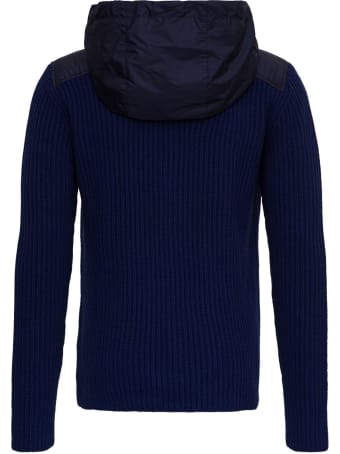 Moncler Hybryd Hooded Sweater In Nylon And Wool By Jw Anderson