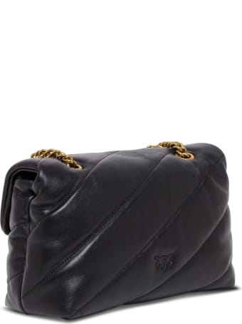 Pinko Love Shoulder Bag In Quilted Leather