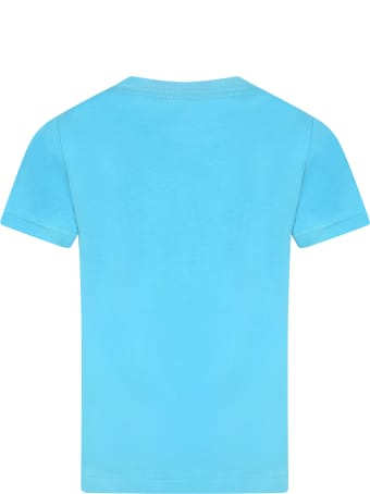 Levi's Light Blue T-shirt For Kids With Logo