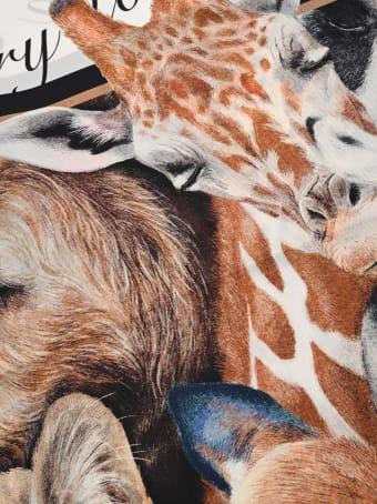 Burberry London Animalia Print Square Scarf