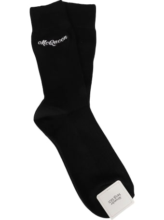 Alexander McQueen Black Cotton Socks