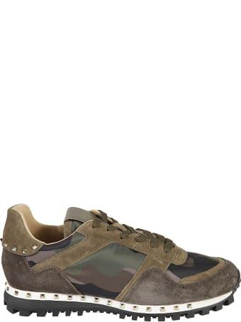 Valentino Garavani Paneled Camouflage Sneakers