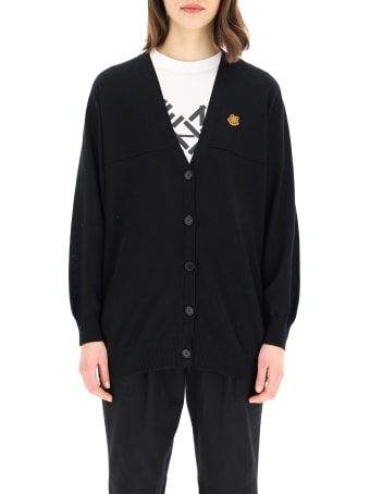 Kenzo Cotton Cardigan Tiger Crest Patch