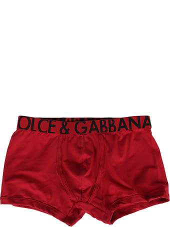Dolce & Gabbana Red Cotton Boxers