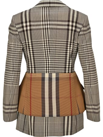 Burberry London Basque Detail Tailored Jacket