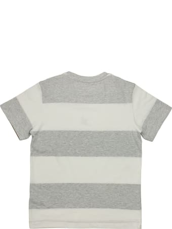 Brunello Cucinelli Cotton Wide Stripe Jersey T-shirt With Print
