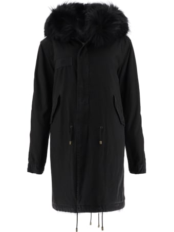 Mr & Mrs Italy Army Long Parka With Fur