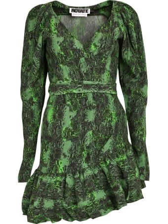 Rotate by Birger Christensen Nancy Python Print Wrap Dress