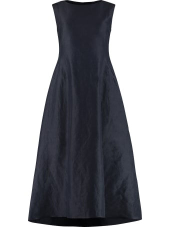 'S Max Mara Veneto Cotton-ramié Blend Midi Dress