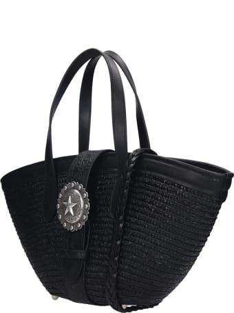 Kate Cate Beach Bag S Tote In Black Tech/synthetic