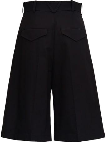 Bottega Veneta Black Cotton Bermuda Shorts