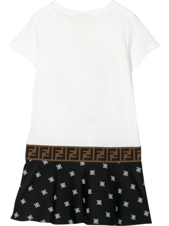 Fendi Fendi Kids Printed T-shirt Model Dress