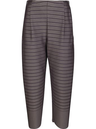 Issey Miyake Grey Striped Trousers