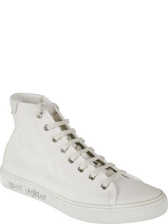 Saint Laurent Sole Logo Print Sneakers
