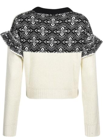 Philosophy di Lorenzo Serafini Ribbed Knit Cropped Sweater