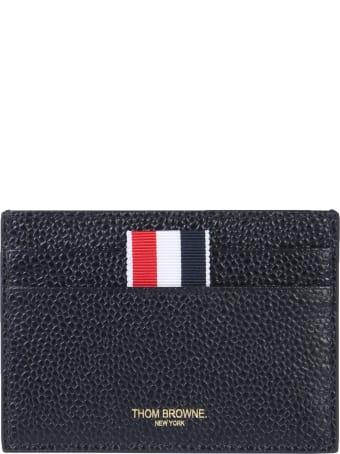 Thom Browne Granulated Leather Card Holder