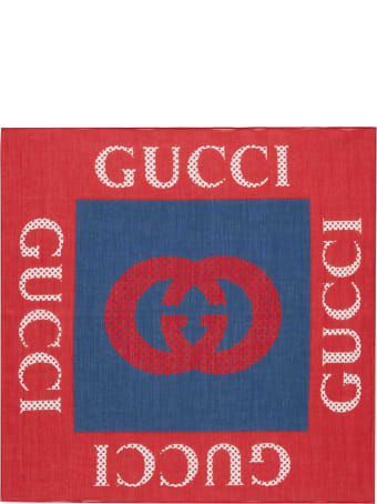 Gucci Red And Blue Foularde
