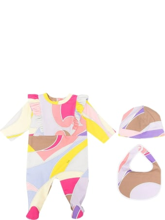 Emilio Pucci Suit, Bib And Beanie Set