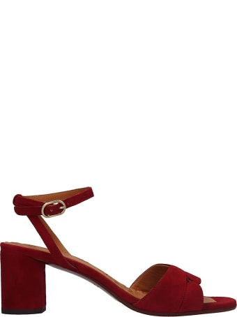 Chie Mihara Lucano Sandals In Red Suede