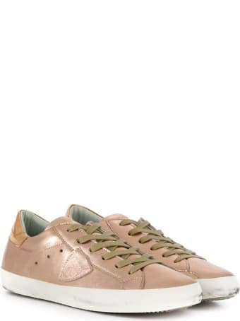 Philippe Model Metal Pink Leather Sneakers