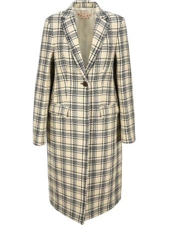 Marni Checked Single-breasted Coat