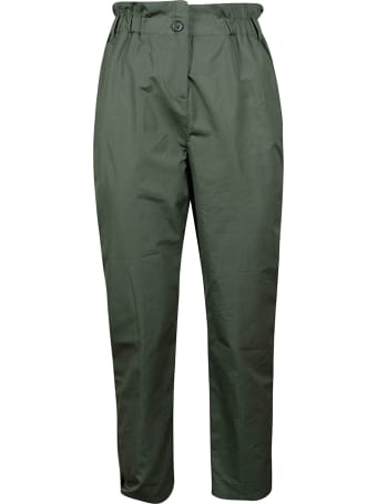 Aspesi Elasticated Waist Buttoned Trousers